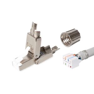 KELine, konektor RJ45/s, beznástrojový, pro přímou montáž na instalační kabel Cat 6<sub>A</sub>, Cat 7, Cat 7<sub>A</sub>