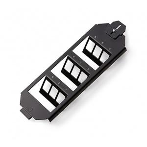 KELine, zásuvka do podlahových van a boxů OBO Ackermann pro 9xRJ45 černá