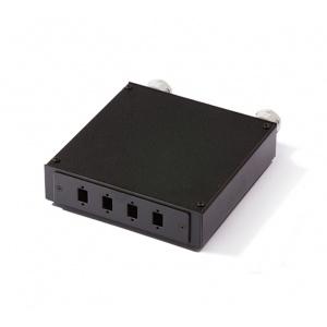 KELine, distribuční box pro 4 x SC, LC Duplex, E2000 adaptér černý