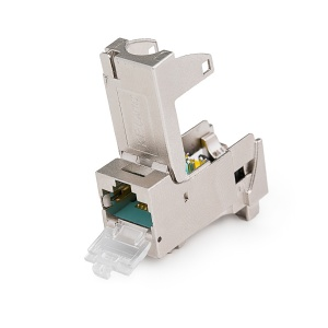 KELine, 10G HD keystone modul 1xRJ45 Cat.6A ISO STP - beznástrojový